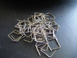 100 CLIPS - 11mm long, CHROME